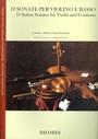 10 sonate per violino e basso