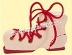 Šněrovací bota - červená