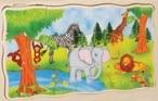 Vrstvové puzzle - Safari
