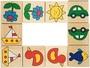 Domino s obrázky v dřevěné krabičce